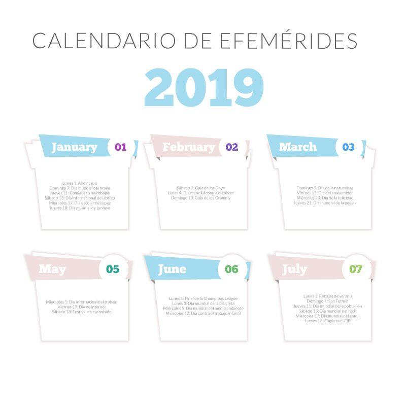 Apoya tu planificación en un Calendario de Efemérides
