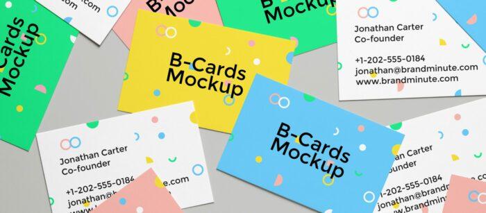mockup gratuito de tarjetas de visita