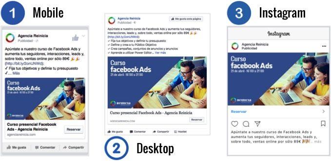 Ejemplos de creatividades para facebook ads
