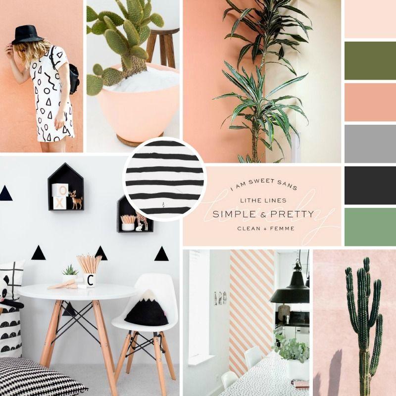 Moodboard completo con colores de marca, tipografía, imágenes de referencia y texturas.