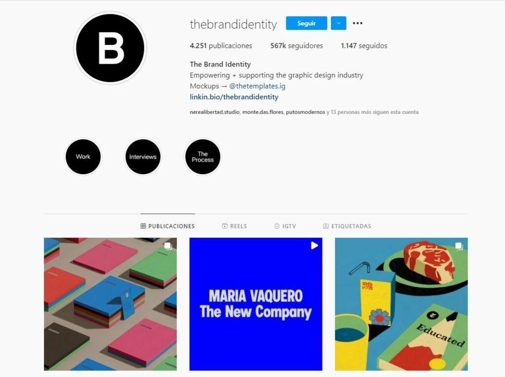 The Brand Identity, un perfil de instagram que recoge trabajos de jóvenes promesas del diseño gráfico.