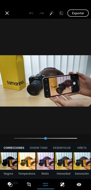 Edición de imágenes en el móvil