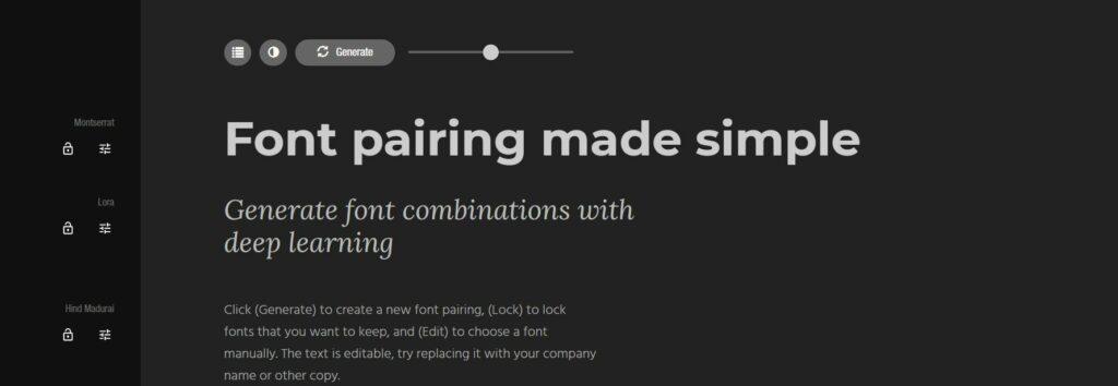Fontjoy es una alternativa perfecta para comprobar la combinación de tipografías para nuestros diseños
