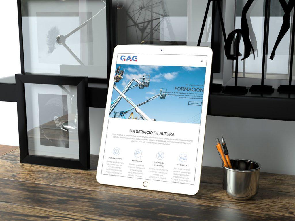 GAG Plataformas - Desarrollo web (Presentación tablet)