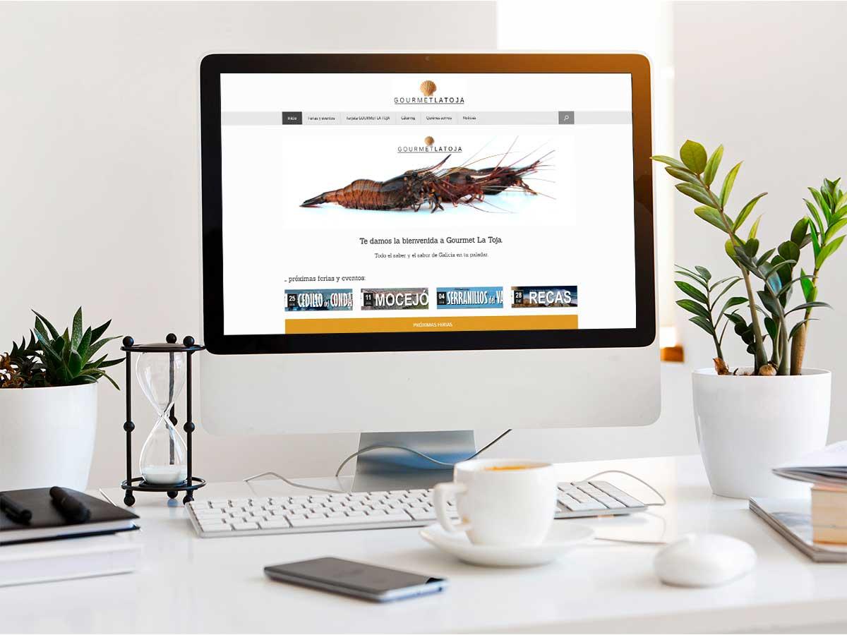 Gourmet La Toja - Web Mockup Escritorio