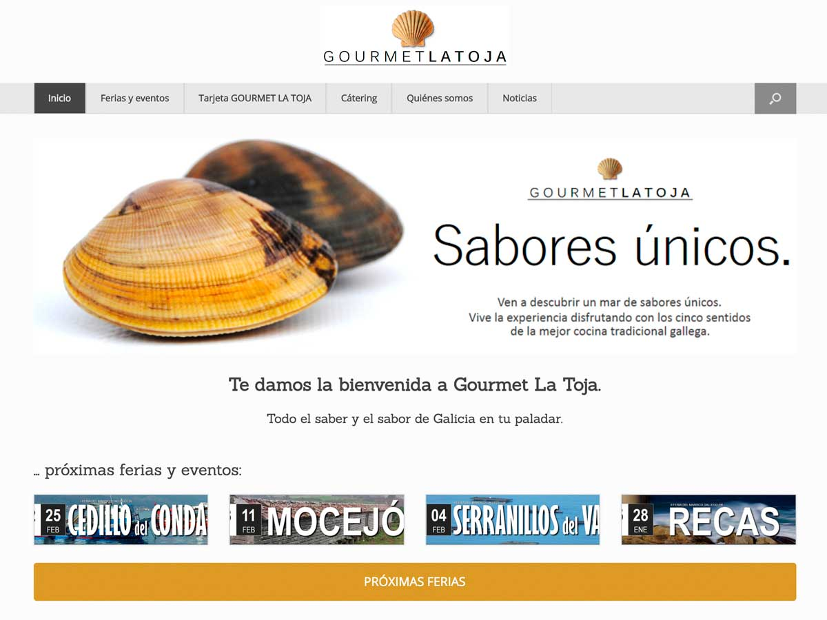 Gourmet La Toja - Web Captura