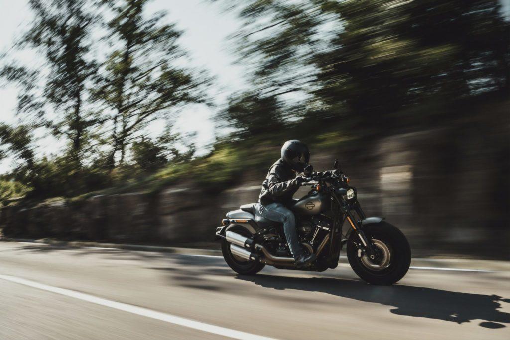 Moto a gran velocidad