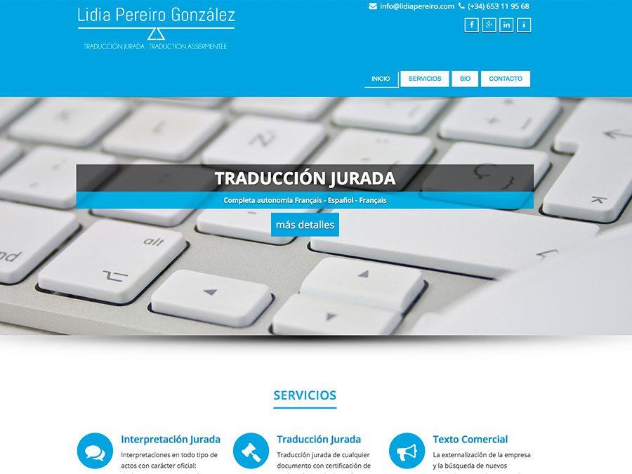 Desarrollo web lidiapereiro.com - Captura