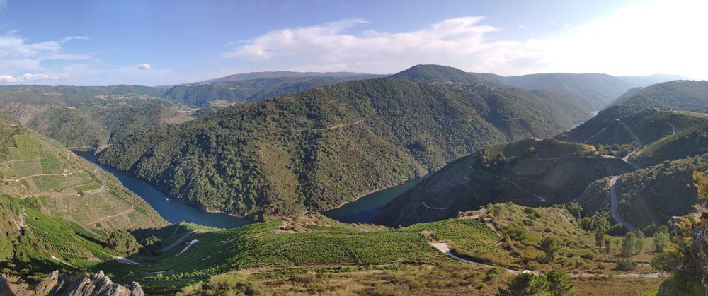 Panorámica del cañon del si (Ourense)