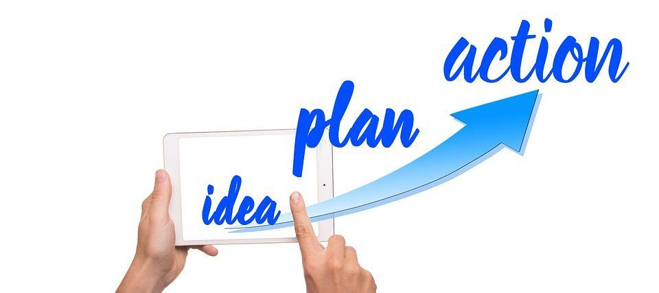 Ilustración plan y acción