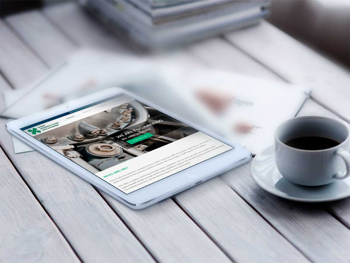 Post Production Solutions - Web Mockup Escritorio