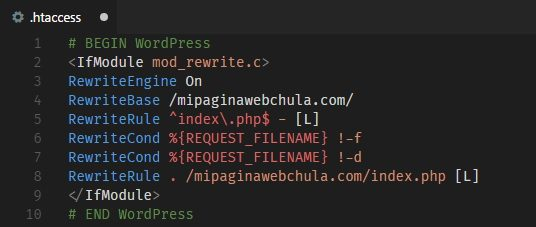 WordPress .htaccess